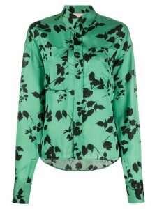 Plan C floral long-sleeve blouse - Green