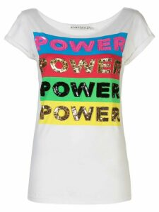 Alice+Olivia power embellished T-shirt - White