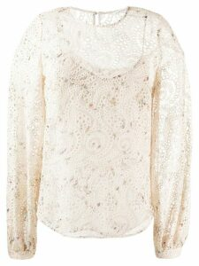 Veronica Beard Azar blouse - NEUTRALS