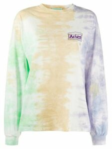Aries tie dye long sleeve sweatshirt - PURPLE