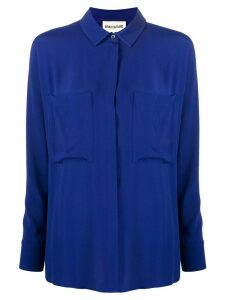 Semicouture chest pocket relaxed-fit shirt - Blue