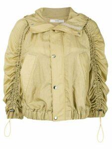 G.V.G.V. crinkled hooded jacket - Yellow