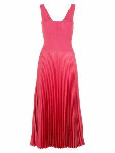 Theory sleeveless pleated midi dress - PINK