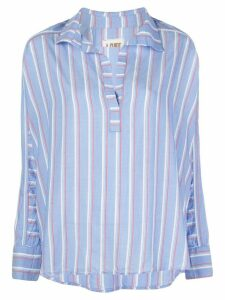 A Shirt Thing long sleeve striped print shirt - Blue