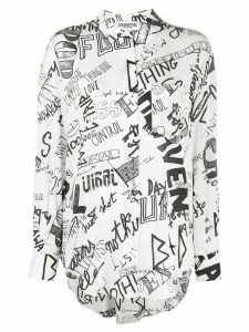 Essentiel Antwerp graphic print blouse - White