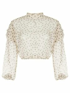 Sir. Isabella polka dot ruffle blouse - NEUTRALS