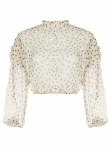 Sir. Isabella polka dot ruffle blouse - NEUTRALS