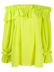 P.A.R.O.S.H. ruffled off-the-shoulder blouse - Yellow