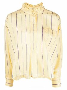 Isabel Marant Étoile Olena striped ruffle-neck shirt - Yellow