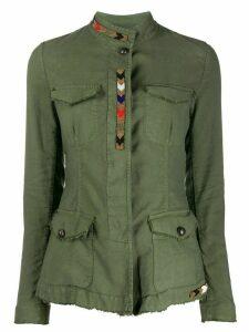 Bazar Deluxe beaded multi-pocket jacket - Green