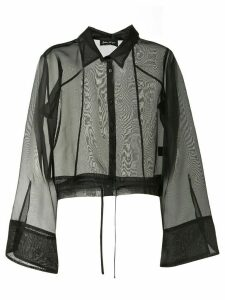 Andrea Ya'aqov silk sheer blouse - Black