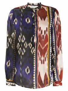 Forte Forte abstract-printed shirt - Blue