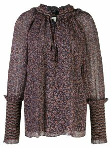 Jonathan Simkhai ditsy floral print blouse - Black