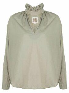 A Shirt Thing ruffled neck shirt - Green