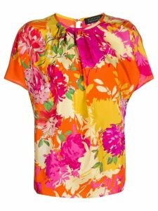 Gianluca Capannolo floral-print round-neck blouse - ORANGE