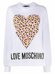 Love Moschino oversized logo sweatshirt - White