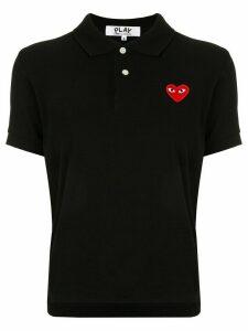 Comme Des Garçons Play logo-patch polo shirt - Black