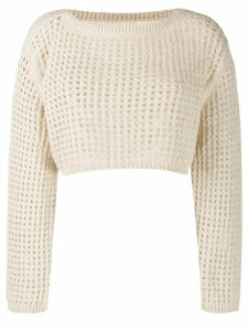 Nanushka perforated knit jumper - NEUTRALS