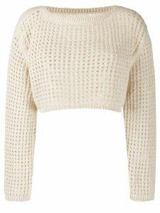 Nanushka perforated knit jumper - NEUTRALS