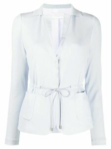 Fabiana Filippi tailored drawstring waist cardigan - Blue
