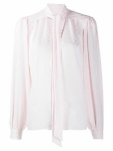 Givenchy striped pussybow blouse - PINK