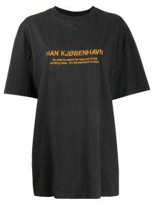 Han Kjøbenhavn logo print T-shirt - Black