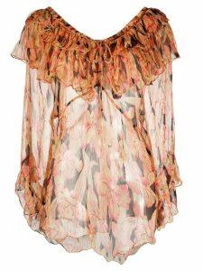 Mes Demoiselles layered floral print blouse - PINK