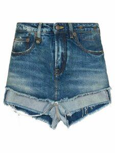 R13 layered denim shorts - Blue