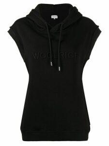 Woolrich sleeveless logo hoodie - Black