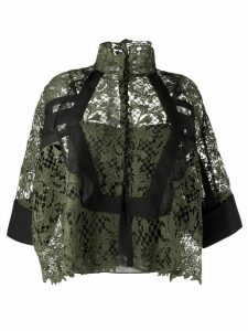 Sacai oversized lace top - Green
