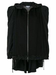 Dice Kayek ruffle sleeve zipped hoodie - Black