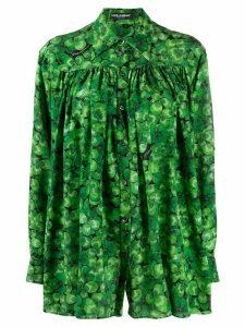 Dolce & Gabbana four-leaf clover print shirt - Green