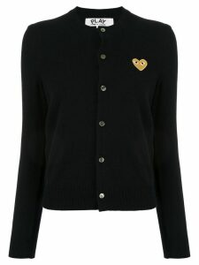 Comme Des Garçons Play embroidered heart patch cardigan - Blue