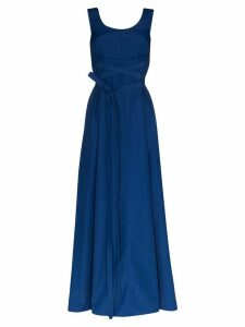 Plan C belted maxi dress - Blue