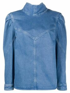 Isabel Marant Espera puff-shoulder denim top - Blue