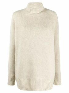 The Row roll neck cashmere jumper - NEUTRALS
