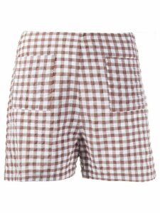 Soulland Ella checked shorts - White