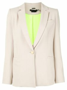 Alice+Olivia single-breasted fitted blazer - NEUTRALS
