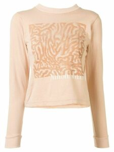 Maisie Wilen YS104 graphic T-shirt - Brown