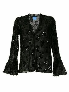 Macgraw Nocturnal sequinned frill blouse - Black