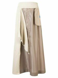Maison Mihara Yasuhiro layered maxi skirt - NEUTRALS