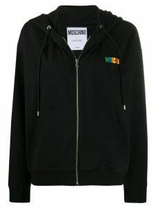 Moschino drawstring zip hoodie - Black