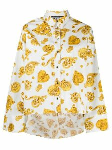 Versace Jeans Couture baroque print shirt - White