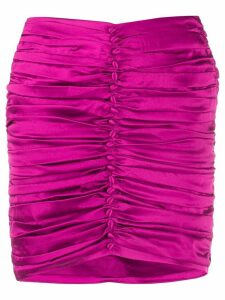 Retrofete ruched button skirt - PINK