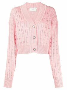 Giuseppe Di Morabito cable knit buttoned cardigan - PINK