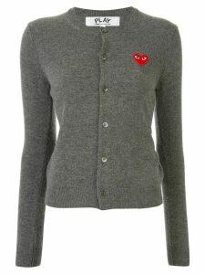 Comme Des Garçons Play heart logo wool cardigan - Grey