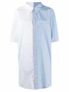 Mm6 Maison Margiela panelled striped shirt - White