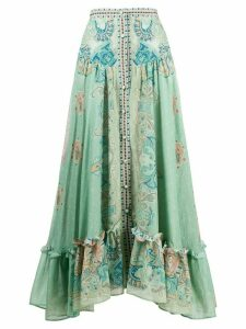 Etro buttoned A-line skirt - Green