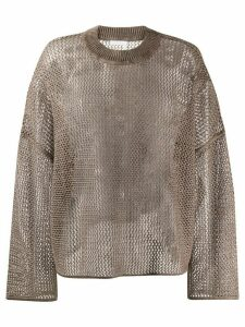 See by Chloé Breezy open knit jumper - Brown