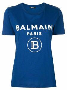 Balmain logo print T-shirt - Blue